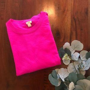 J.Crew Factory Merino Sweater in Bright Pink